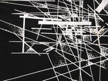 czarny abstrakcyjne white Fotografia Stock