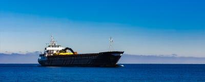 Czarny ładunku statek Zdjęcie Stock