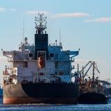 Czarny ładunku statek Obraz Royalty Free
