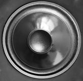 Czarny akustyczny mówca z sferą Zdjęcia Stock