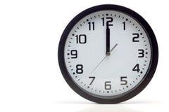 Czarny analogowy zegar Fotografia Stock
