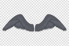 czarny aniołów skrzydła royalty ilustracja