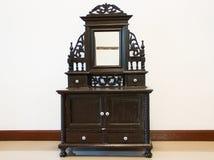 Czarny Antykwarski Opatrunkowy stół Fotografia Stock