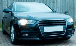 Czarny Audi A4 obrazy royalty free