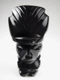 czarny aztec idola onyks polerujący obraz stock