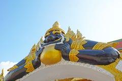 Czarny bóstwo dzwonił Rahu bóg hindus Obraz Royalty Free