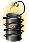 czarny bębenu oleju napędowy pompa ilustracji