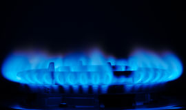 czarny błękitny paliwowego gazu naturalna drymba Zdjęcia Royalty Free