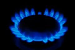 czarny błękitny paliwowego gazu naturalna drymba Obrazy Royalty Free