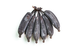 Czarny banan lub przegniły banan Obrazy Royalty Free