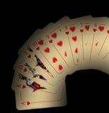 czarny bawić się kart Zdjęcia Royalty Free