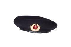 Czarny beret Zdjęcia Stock