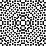 Czarny Bezszwowy kropka wzór w Białym tle Obrazy Stock
