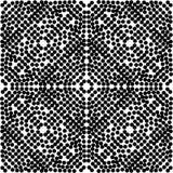 Czarny Bezszwowy kropka wzór w kwadracie w dużym circul Z Białym tłem i fotografia royalty free