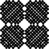 Czarny Bezszwowy kropka wzór w kwadracie Z Białym tłem obraz stock