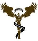 Czarny Biały Chiropractic zdrowie anioła mężczyzna royalty ilustracja