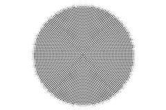 Czarny biały kropkowany halftone wektoru tło Gładzę ześrodkowywał kropkowanego gradient Obraz Royalty Free
