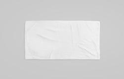 Czarny biały miękki plażowego ręcznika mockup Jasnego wyjawiony wiper Obraz Royalty Free