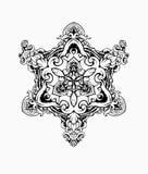CZARNY BIAŁY ornamentu mandala ilustracji