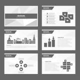 Czarny biały Abstrakcjonistyczny broszurka raportu ulotki magazynu prezentaci elementu szablonu a4 rozmiar ustawia dla reklamowej Zdjęcie Stock