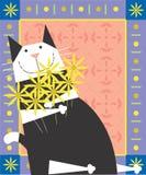 Czarny & biały kot Obraz Royalty Free