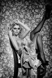 Czarny & biały retro kabaret Fotografia Stock