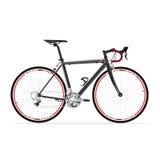 Czarny bicykl Obrazy Royalty Free