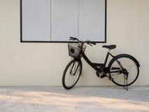 Czarny bicykl Fotografia Royalty Free