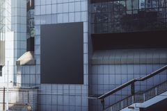 czarny billboardu puste miejsce fotografia stock
