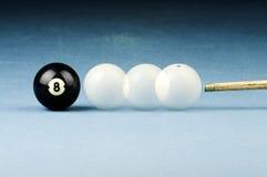czarny billiards biel Fotografia Stock