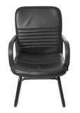 Czarny biurowy szefa krzesło Zdjęcie Stock