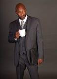 czarny biznesowego mężczyzna potomstwa Zdjęcie Stock