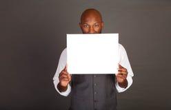 czarny biznesowego mężczyzna potomstwa Fotografia Stock