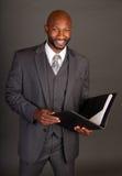czarny biznesowego mężczyzna potomstwa Fotografia Royalty Free