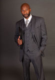 czarny biznesowego mężczyzna potomstwa Obrazy Royalty Free