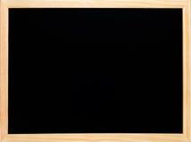 czarny blackboard chalkboard pusty drewniany Zdjęcia Royalty Free