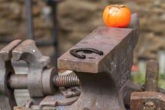 czarny blacksmith zbliżenia szczegółu działanie Obrazy Royalty Free