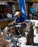 czarny blacksmith zbliżenia szczegółu działanie Zdjęcia Stock