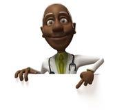 czarny blank lekarze znak ilustracja wektor