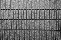 czarny bloku marmuru ściana Fotografia Stock