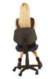 czarny blondynka bizneswoman zdjęcie stock
