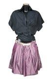 czarny bluzki spódniczki violet Obraz Stock