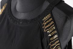 Czarny bluzki zakończenie obrazy royalty free