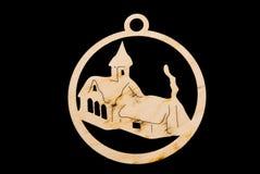 czarny bożych narodzeń chałupy ornament Zdjęcie Stock