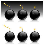 czarny bomba royalty ilustracja