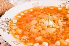 czarny borscht chleba restauraci ukrainian Zdjęcie Royalty Free