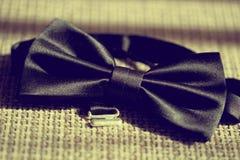 Czarny bowtie tux Fotografia Royalty Free