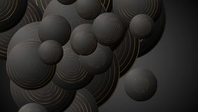 Czarny brąz okrąża abstrakcjonistyczną korporacyjną wideo animację ilustracja wektor