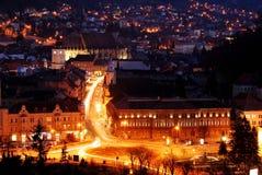 czarny brasov kościelny nightview Romania zdjęcie royalty free