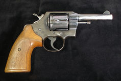 czarny broń odizolowane Fotografia Stock